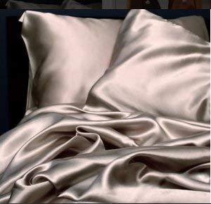 MYK Silk Luxury Silk Bedding Sheet Seamless Flat Sheet Fitted Sheet Oeko-Tex Certified Hypoallergenic Gift Ready