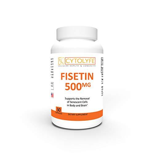 Fisetin 500mg | 98% Pure Fisetin | 500mg Therapeutic Dose | 30 Servings | Senolytic Activator | Anti-Aging & Longevity |