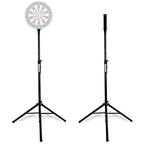 Pronomic DA-45S Ständer für Dartscheibe (Dartboard Halterung, Dartständer aus pulverbeschichtetem Stahl, stufenlos höhenverstellbar) schwarz