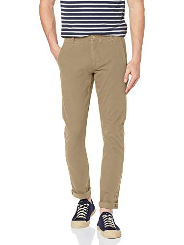 dockers Herren Smart 360 Flex Alpha Skinny Hose, Braun (New British Khaki 0000), 40W / 34L