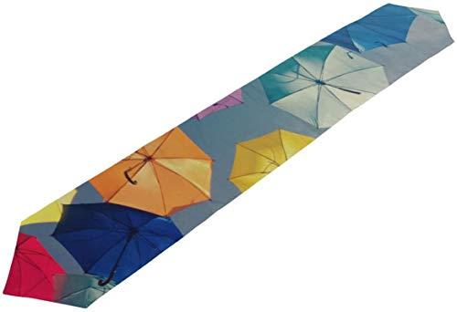 Bunte Regenschirme im Himmel Gepäcktasche Große Einkaufstasche für Damen Damen Reisetaschen Tischläufer Dekor Innen,13 * 70in