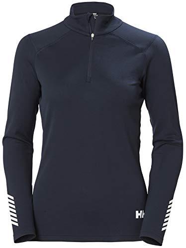 Helly-Hansen Womens LIFA Active 1/2 Zip Base Layer Shirt, 597 Navy, Small