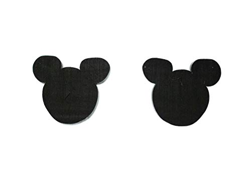 Miniblings Maus Comic Ohrstecker Stecker Kopf Ohren schwarz Nagetier Ratte - Handmade Modeschmuck I Ohrringe Stecker Ohrschmuck