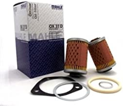 Oil Filter Hinged Compatible with BMW R Airhead without Oil Cooler Motorcycle 11 42 1 337 570 Mahle OX37D
