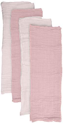 pippi 4er Pack Baby Windeln für Spucktücher, Kuscheltücher Oder Windeltücher Geeignet Set Costume da Bagno, Viola (Shrinking Violet 520), Unica (Taglia Produttore: 65x65) Unisex-Bimbi