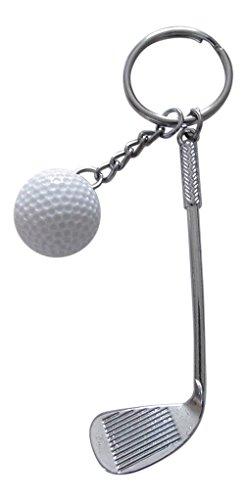 Schlüsselanhänger, Schmuck für Tasche, Club und Golf Ball Stahl, Neuheit.