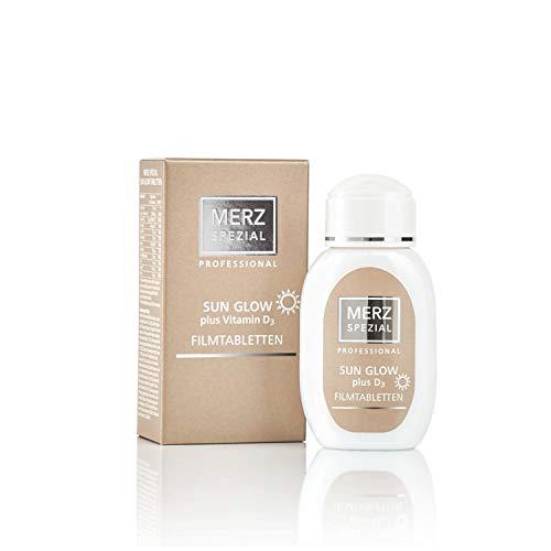 Merz Spezial Professional Sun Glow plus Vitamin D3 Dragees - mit Beta Carotin für leichte Bräune und den Schutz der Haut - Nahrungsergänzungsmittel (1 x 62g / 120 Dragees)