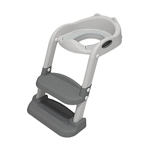 Asiento Aseo Escalera para Niños Portátil, Reductor WC con Escalera Niños, Adaptador para Inodoro, Fácil Almacenamiento