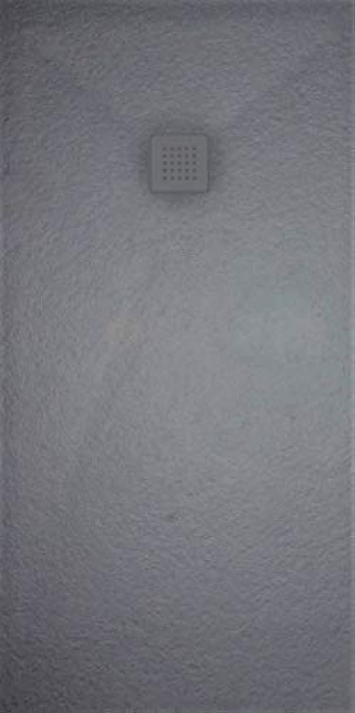 Extraflache rutschfeste Duschwanne70x100 cm GRAPHIT Lieferung mit Ablauf und mit farbigem Gitter