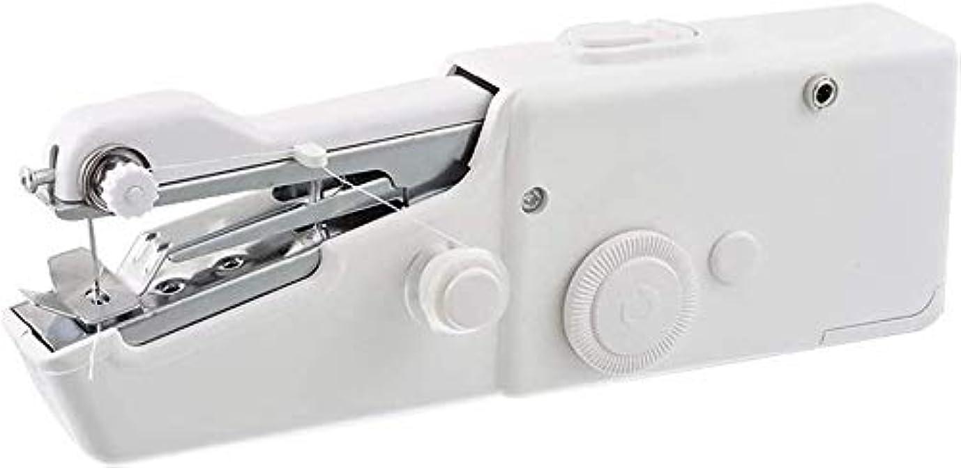 オーブン付き添い人ペダルミシンポータブル ポータブルミニポータブルハンドヘルドミシンステッチコードレス電動ステッチセット裁縫洋服用ファブリックDIY(カラー:ホワイト) ポータブル小さなポケットミシン (Color : White)