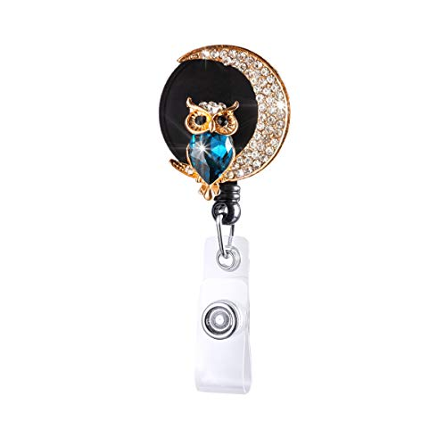 【2021 Newest】HASFINE Retractable Badge Reel, Cute Handmade Bling Rhinestone ID Nurse Badge Holder with Alligator Clip, Great Gift for Nurse,Doctor,Teacher and Office Staff