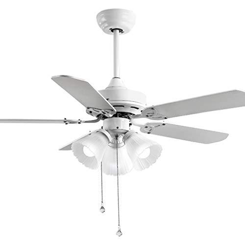 Ventiladores para el Techo con Lámpara Techo de América del ventilador Luz aspas del ventilador blanca con 3 pantalla de cristal cable de control for sala de estar de la lámpara, 36'/ 42' Ventilador