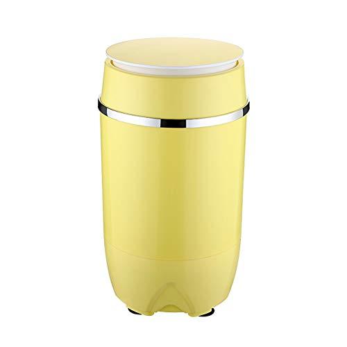 NEHARO Mini Lavadora Pequeño bebé Soltero Solo cañón hogar Semi-automático Mini Lavadora Ropa Interior Dormitorio bebé para Dormitorio Individual (Color : Yellow, Size : 34x34x59cm)