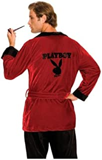 Secret Wishes Men's Playboy Smoking Jacket, Hef, Standard