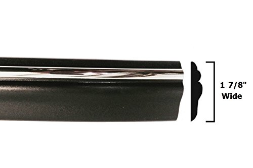 Automotive Authority Black Chrome Side Body Trim Molding Replacement for 1994-1997 Dodge Ram Pickup Truck - 1-7/8