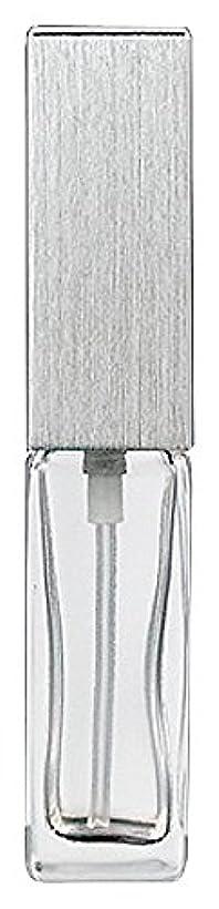 糞優遇具体的に15491 メンズアトマイザー角ビン クリア キャップ ヘアラインシルバー