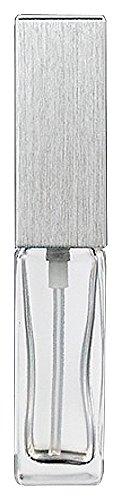ヤマダアトマイザー 15491 メンズアトマイザー角ビン クリア キャップ ヘアラインシルバー 単品