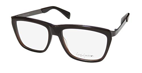 Yohji Yamamoto Yy1015 Mens/Womens Rectangular Full-rim Brand Eyeglasses/Spectacles (55-16-140, Brown Fade)
