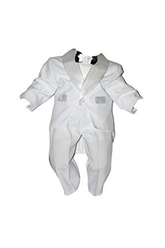 Unbekannt Taufanzug Baby Junge Kinder Kind Taufe Anzug Hochzeit Anzüge Festanzug, 5tlg, Weiß Größe 80