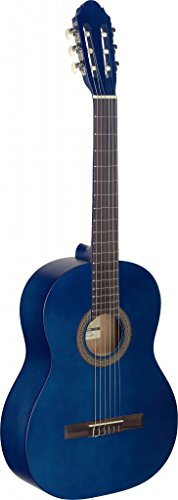 Stagg C440Klassische Gitarre–Schwarz Gitarre Volle Größe blau