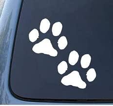 PAW PRINTS - Puppy Dog - Car, Truck, Notebook, Vinyl Decal Sticker #1099 | Vinyl Color White