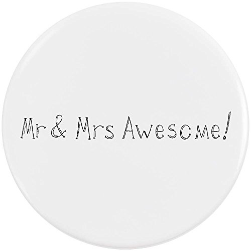 58mm 'Mr & Mrs Awesome!' Pin Knopf-Abzeichen (BB00035799)