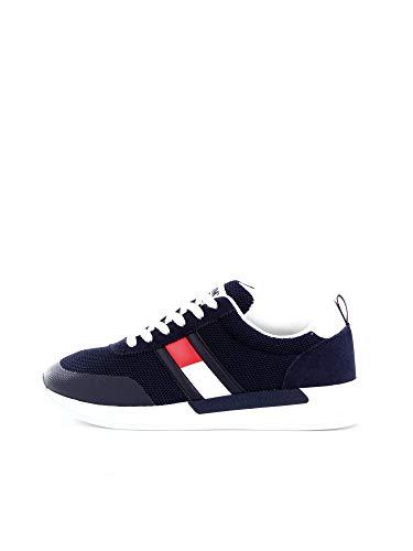 Tommy Hilfiger Flexi Tommy Jeans Flag Sneaker, Zapatillas para Hombre, Azul (Twilight Navy C87), 43 EU
