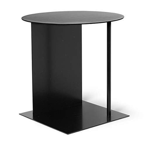 Ferm Living Place bijzettafel H 50 cm, zwart gepoedercoat BxHxD 39,5 x 50 x 39,5 cm