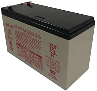 DataSafe NPX-35TFR - 12 Volt/35 Watts per Cell Sealed Lead Acid Battery with 0.250 Connector - Flame Retardant Case