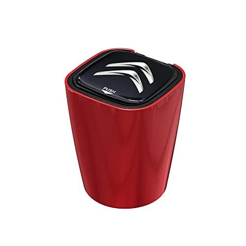 Cenicero de Coche Piezas de automóviles Cenicero Alta Temperatura Resistente a la luz LED Compatible con Citroen-C1 3 6 Bx CX C4CACTUS C4PICASSO BERLINGO C-Zero E-MEHARI Universal (Color Name : Red)