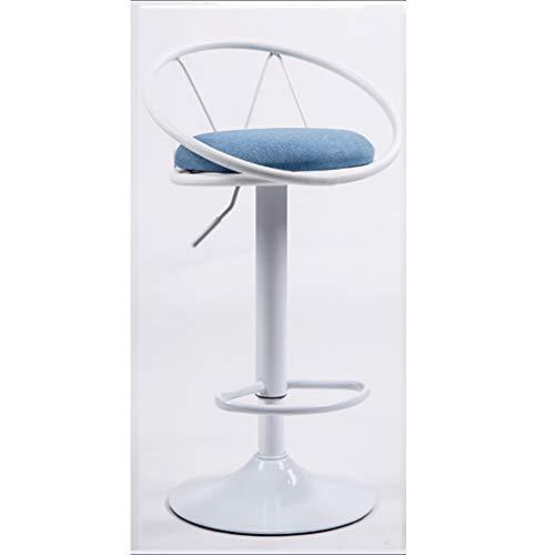 AAJOLG Barkruk met leuning, 360 graden draaibaar, 2-delige set, kruk, in hoogte verstelbaar, barstoel, kruk, bartafel met barkruk