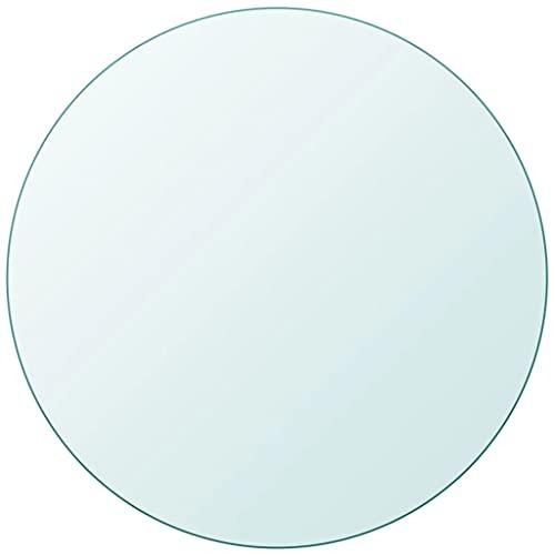 Material: Vidrio Templado Tablero de Mesa de Cristal Templado Redondo 700 mm