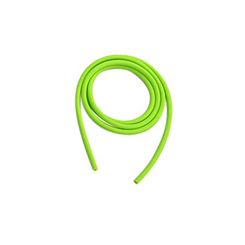ZSHJG Archery Tube Peep Sight 3/16' Hole Size Replacement Stretch Compound Bow Pull Line Peep Sight Slingshot Rubber Bands Stretch Elastic Tube Band for Ourdoor (Green, 3m)