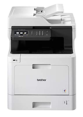 Brother MFC-L8690CDW Colour Laser Printer - All-in-One, Wireless/USB 2.0/Network, Printer/Scanner/Copier/Fax Machine, 2 Sided Printing, 31PPM, A4 Printer, Business Printer