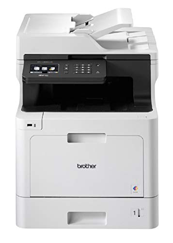 Brother MFC-L8690CDW Colour Laser Printer - All-in-One, Wireless USB 2.0 Network, Printer Scanner Copier Fax Machine, 2 Sided Printing, 31PPM, A4 Printer, Business Printer