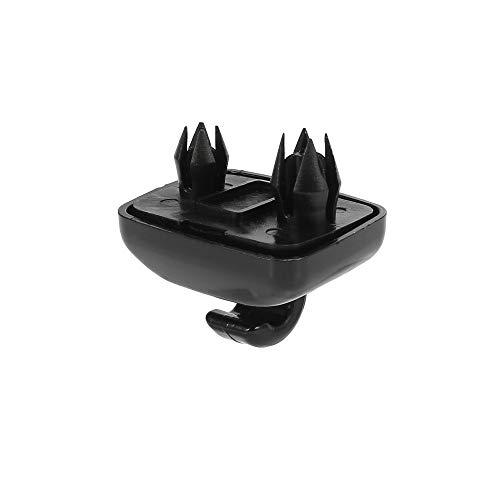 X AUTOHAUX Negro Coche Plástico Parasol Gancho Clip Soporte Retenedor 8U0857562