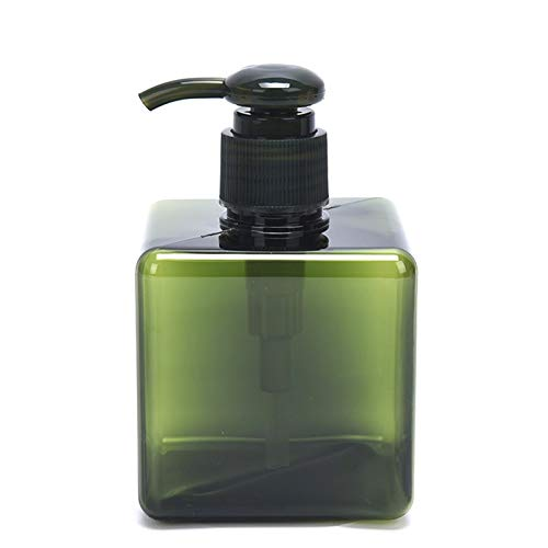 JSJJAUJ Kosmetikbehälterflasche 1 stück 250 ml Kunststoff Badezimmer Flüssigkosmetik Shampoo Flüssig Seifenschaum Spender Container Flasche Handpumpe (Color : Green)