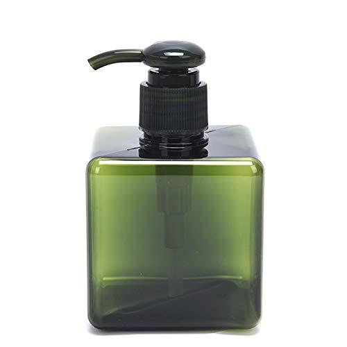 FANGLMY Botella contenedor 1 unid 250 ml de baño plástico líquido cosmético champú líquido jabón dispensador de Espuma contenedor Botella Bomba de Mano Artículos de Viaje (Color : Green)