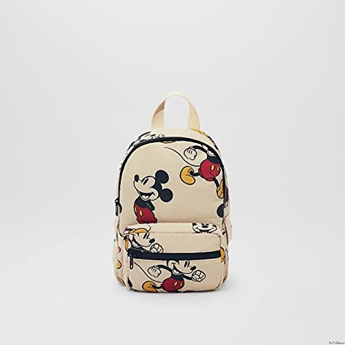 SIMEISM Bonita bolsa de Disney Mickey Mouse niños primavera otoño Mickey Minnie Mouse patrón mochila niños regalos