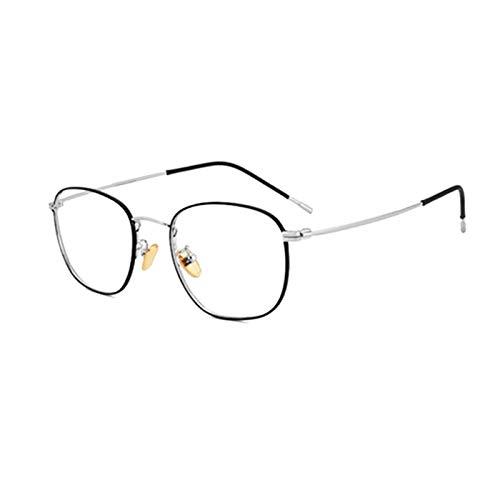 QDM Anti-Blaue Computer-Lesebrille Leichte Lesebrille Stilvolle Metallrahmen-Herren-Brille Mit Visueller Unterstützung für Damen