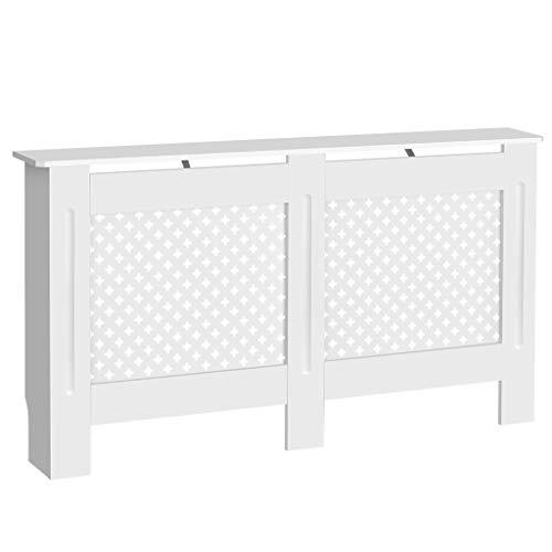 Finether Mueble para radiador Pintado, diseño Moderno, Color Blanco, Tablero MDF, L