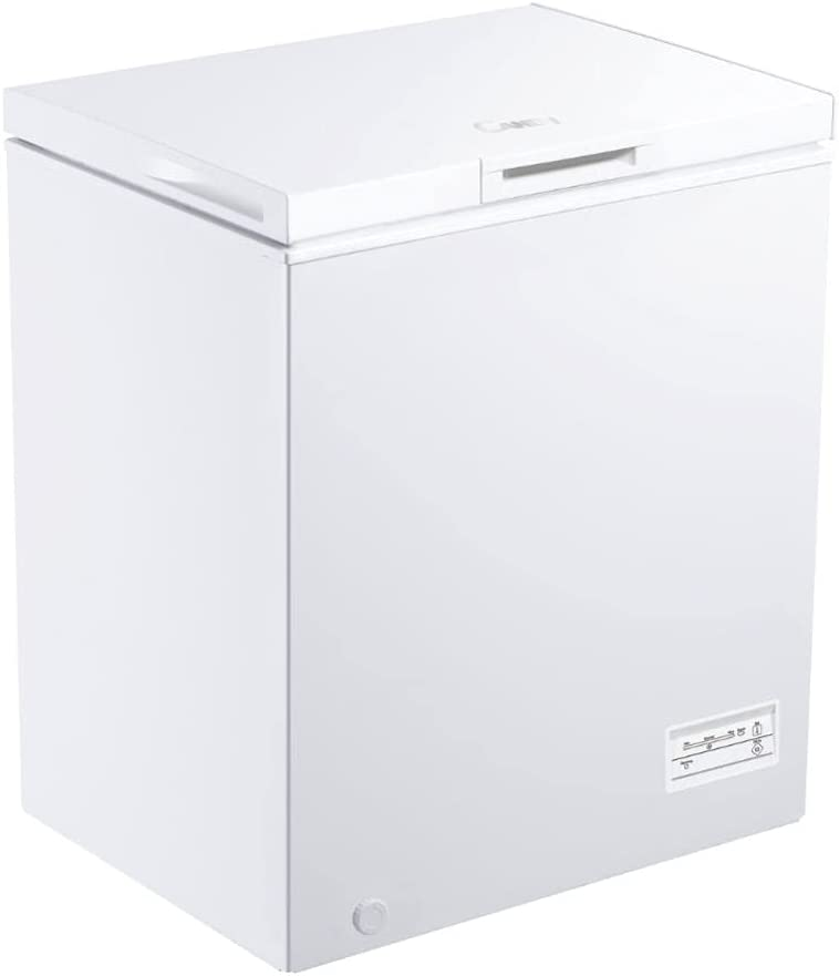 Candy CCHM 145/N - Congelador arcón pequeño, 142 l, control mecánico, condensador oculto, cesto, rasqueta, 40 dba, clase F, blanco