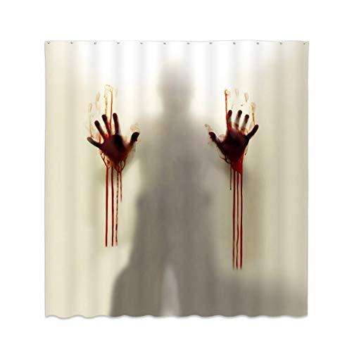 Creepy Horror Wasserdichter Blutige Hände Duschvorhang Badezimmer Vorhang Halloween Deko