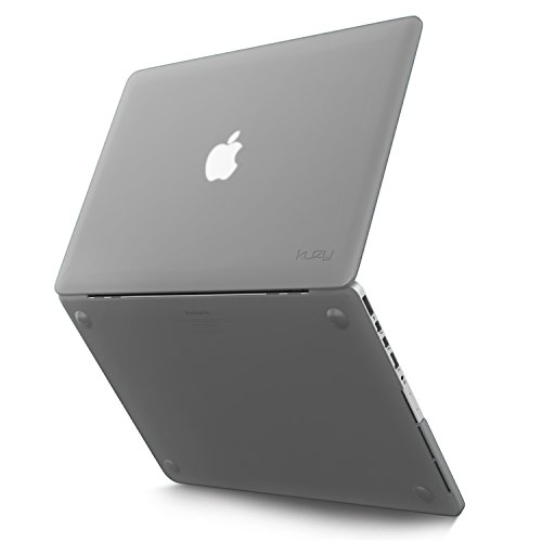 Kuzy - Retina 13-inch Silicone Touch Case for MacBook Pro 13.3' with Retina Display A1502 & A1425 Shell Cover Rubber - GRAY