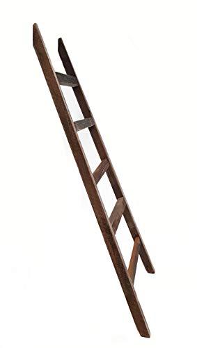 Spetebo Deko Leiter 100cm - Vintage - Altes Holz Deko Element Wand Dekoration Handtuchhalter Retro Holzleiter