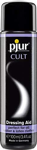 pjur CULT Dressing Aid - Latex Anziehhilfe für ein besonders angenehmes Tragegefühl auf der Haut - auch für Gummi (100ml)