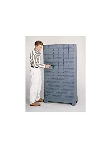 Durham 022-95 Prime Cold Rolled Steel Cabinet, 96 Drawer, 12-1/4' Length x 34-1/8' Width x 62-1/2' Height, Gray Powder Coat Finish