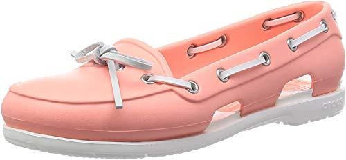 Crocs BchLnBoatShoeW, Damen Bootschuhe, Pink (Melon/White 6KP), 39/40 EU