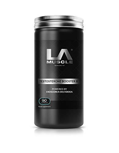 LA Muscle Testosterone Booster II: El único potenciador de testosterona del mundo impulsado por Dioscorea Deltoidea