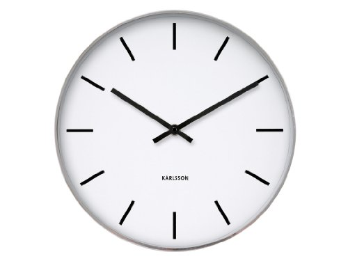 Karlsson Reloj de Pared Station Classic Acero Pulido